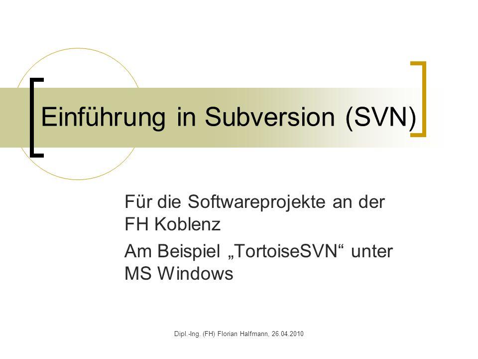 Einführung in Subversion (SVN)