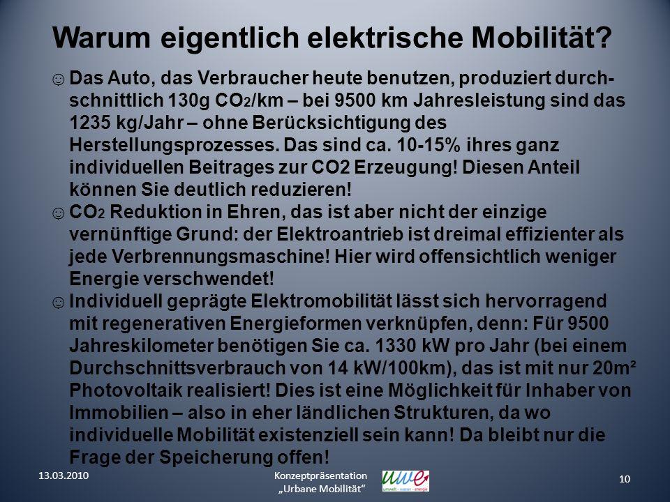 Warum eigentlich elektrische Mobilität