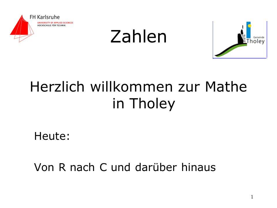 Herzlich willkommen zur Mathe in Tholey