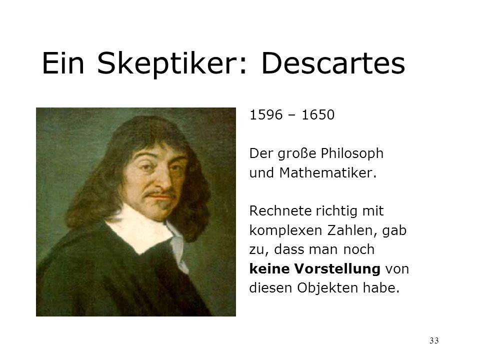 Ein Skeptiker: Descartes