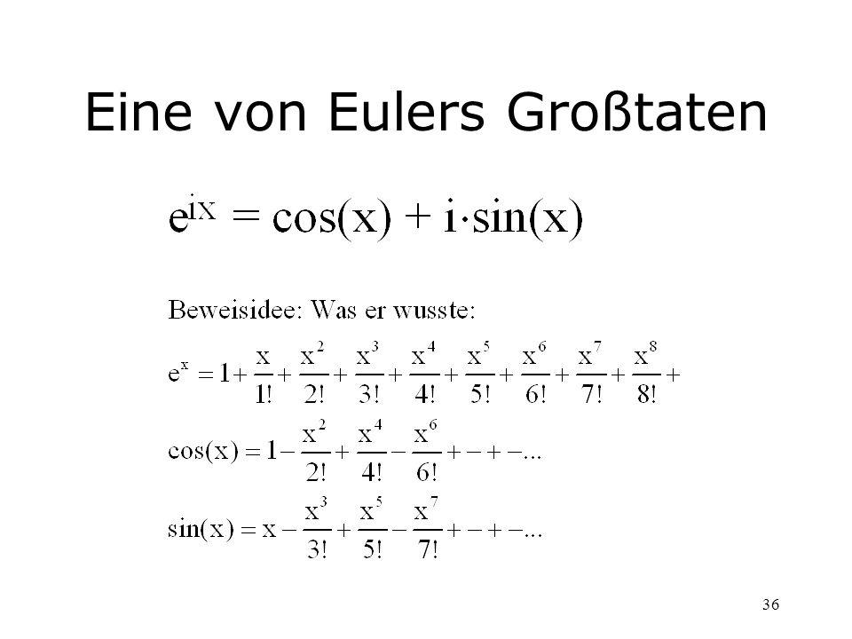 Eine von Eulers Großtaten