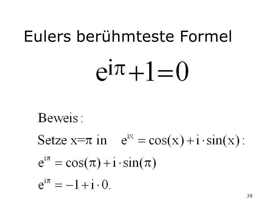 Eulers berühmteste Formel