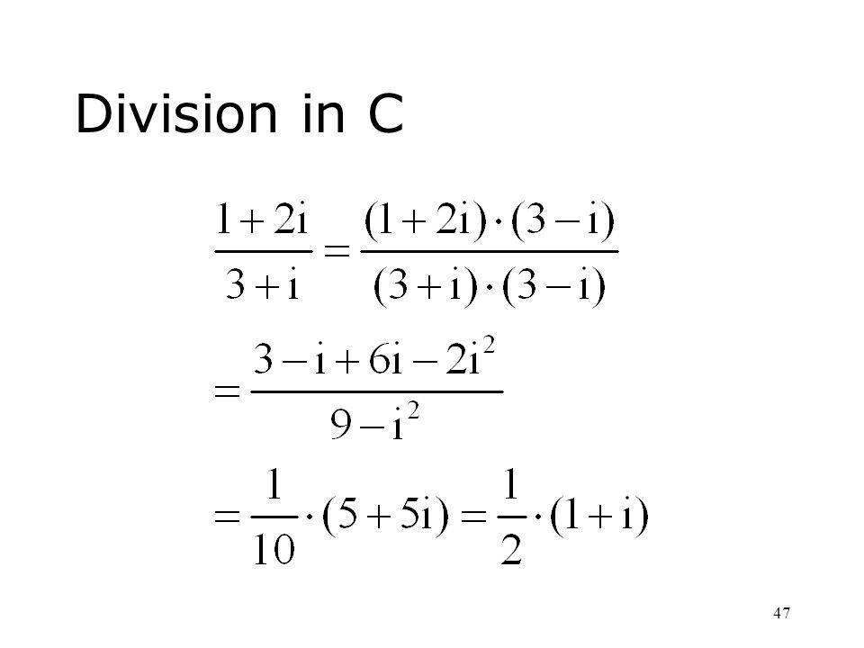 Division in C