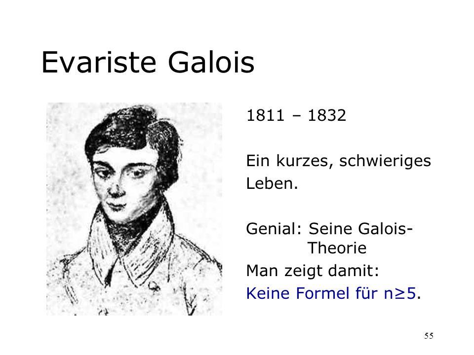 Evariste Galois 1811 – 1832 Ein kurzes, schwieriges Leben.