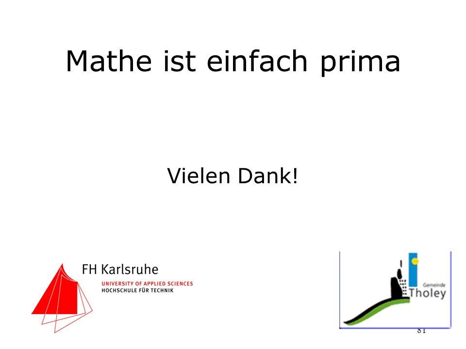 Mathe ist einfach prima