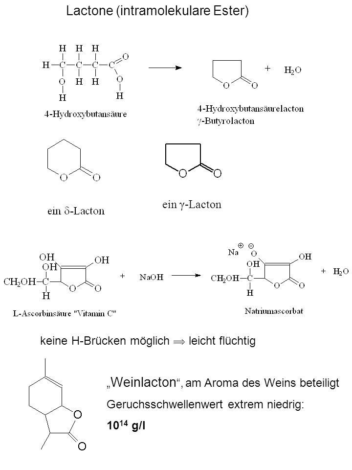 Lactone (intramolekulare Ester)