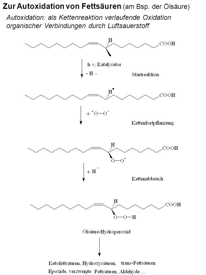 Zur Autoxidation von Fettsäuren (am Bsp. der Ölsäure)