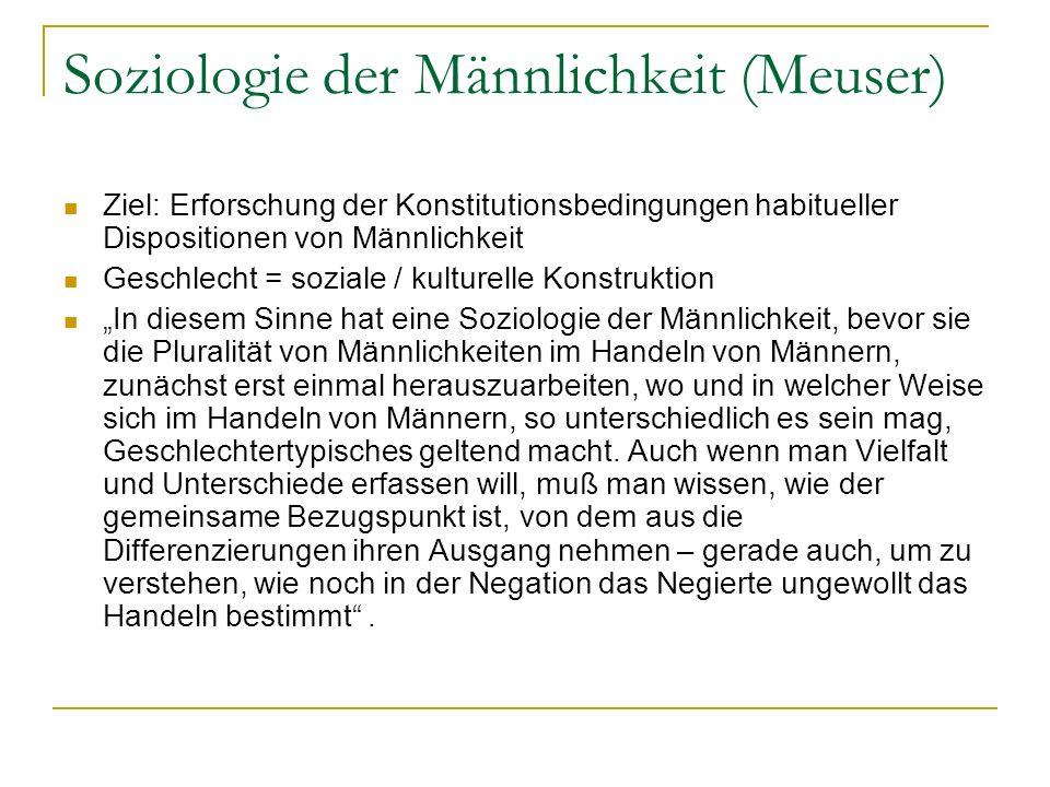 Soziologie der Männlichkeit (Meuser)