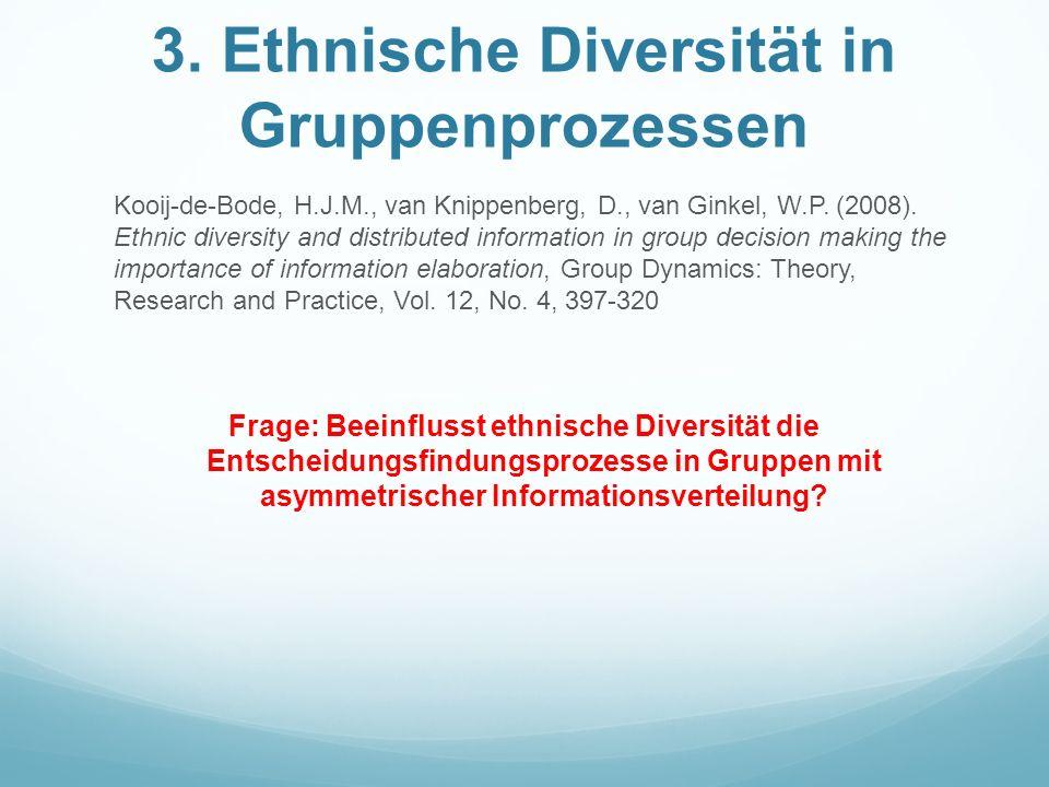 3. Ethnische Diversität in Gruppenprozessen