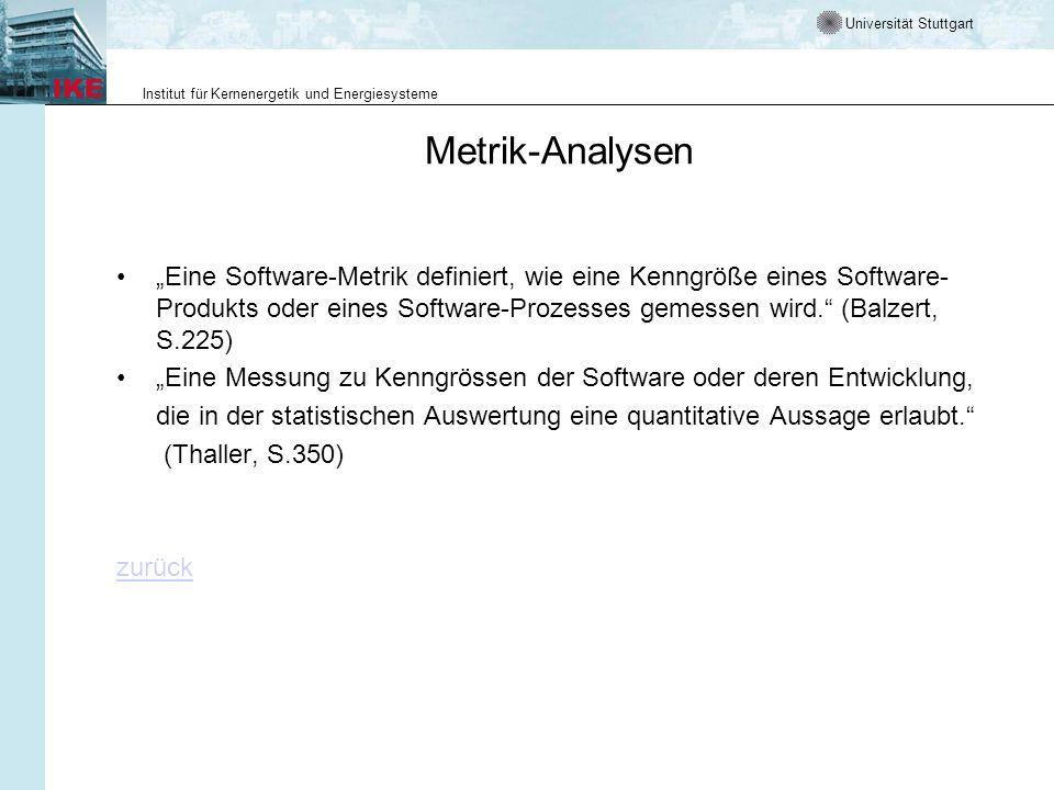 Metrik-Analysen