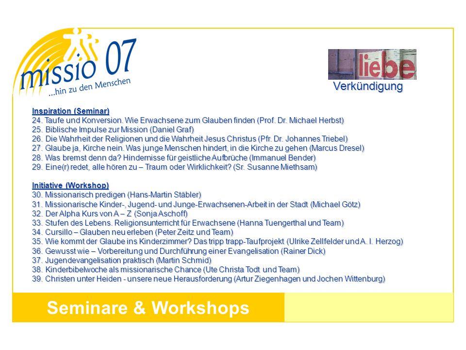 Seminare & Workshops Verkündigung Inspiration (Seminar)