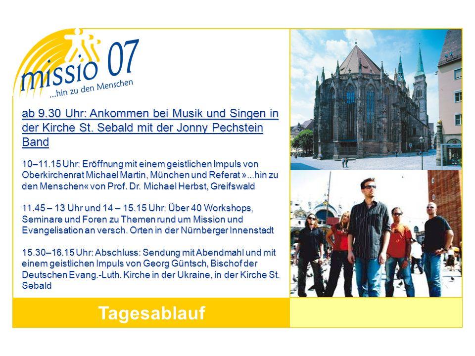 ab 9. 30 Uhr: Ankommen bei Musik und Singen in der Kirche St