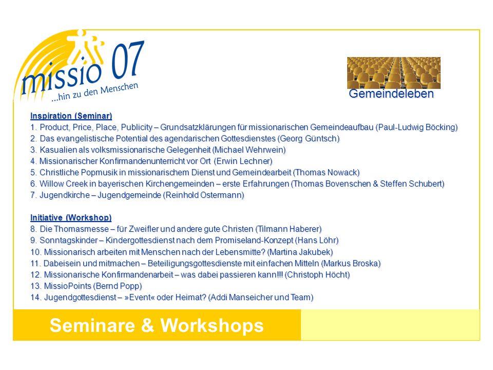 Seminare & Workshops Gemeindeleben Inspiration (Seminar)