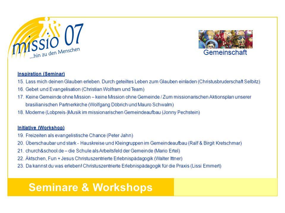 Seminare & Workshops Gemeinschaft Inspiration (Seminar)