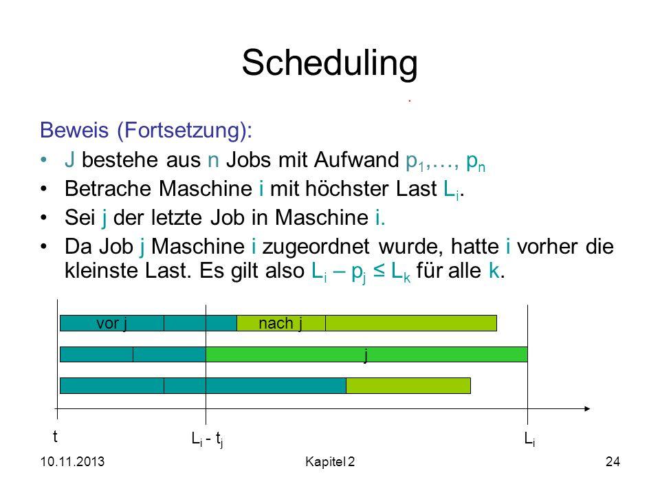 Scheduling Beweis (Fortsetzung):