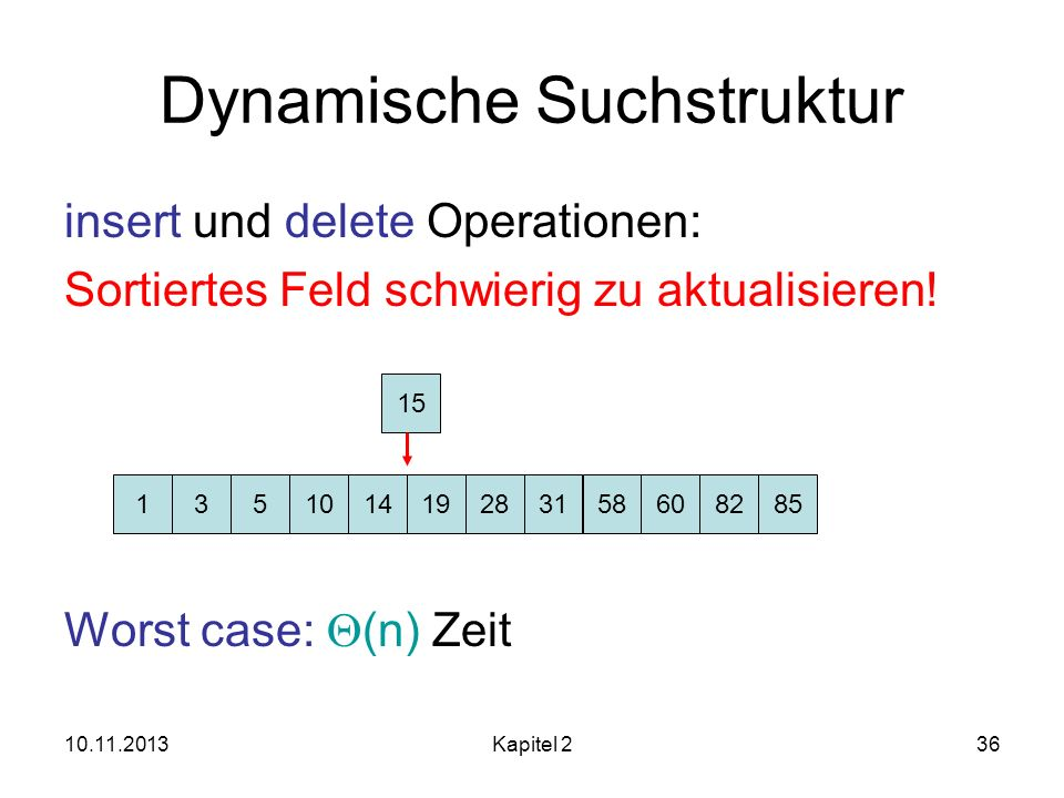 Dynamische Suchstruktur