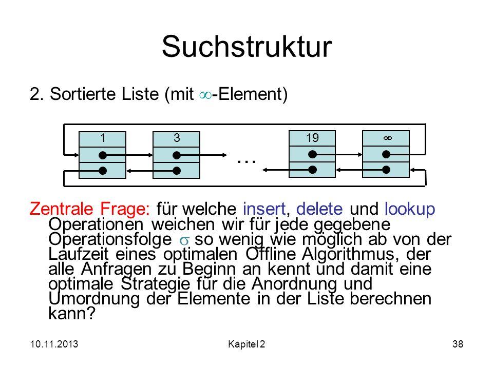 Suchstruktur … 2. Sortierte Liste (mit -Element)
