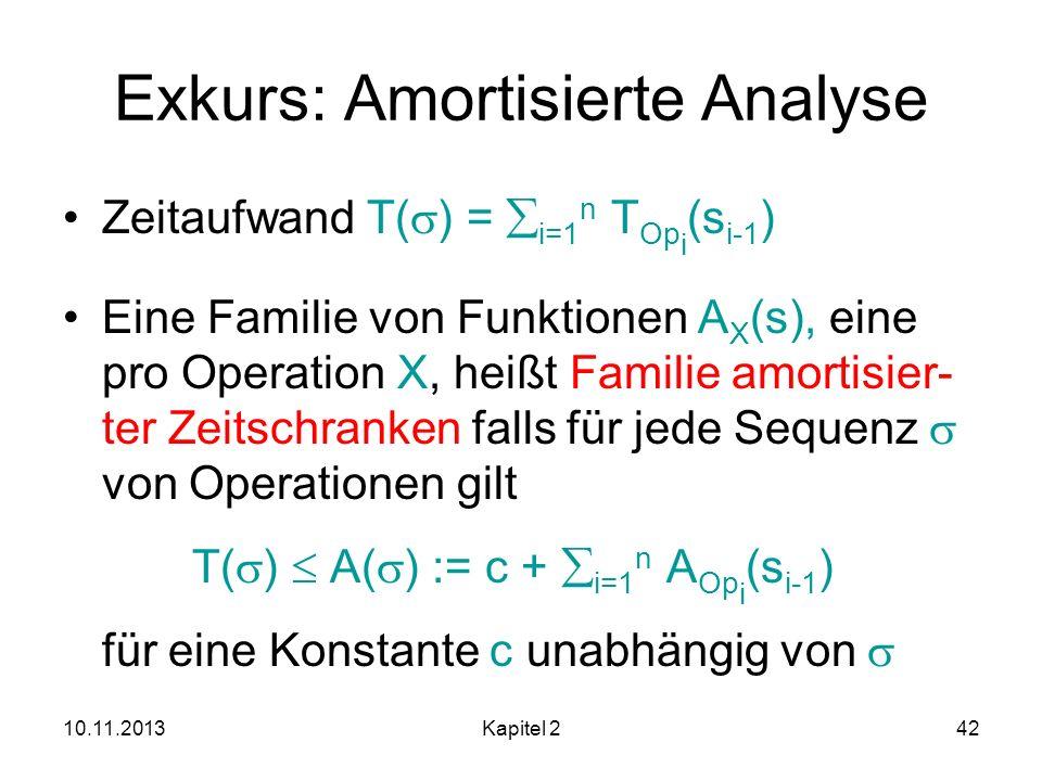 Exkurs: Amortisierte Analyse