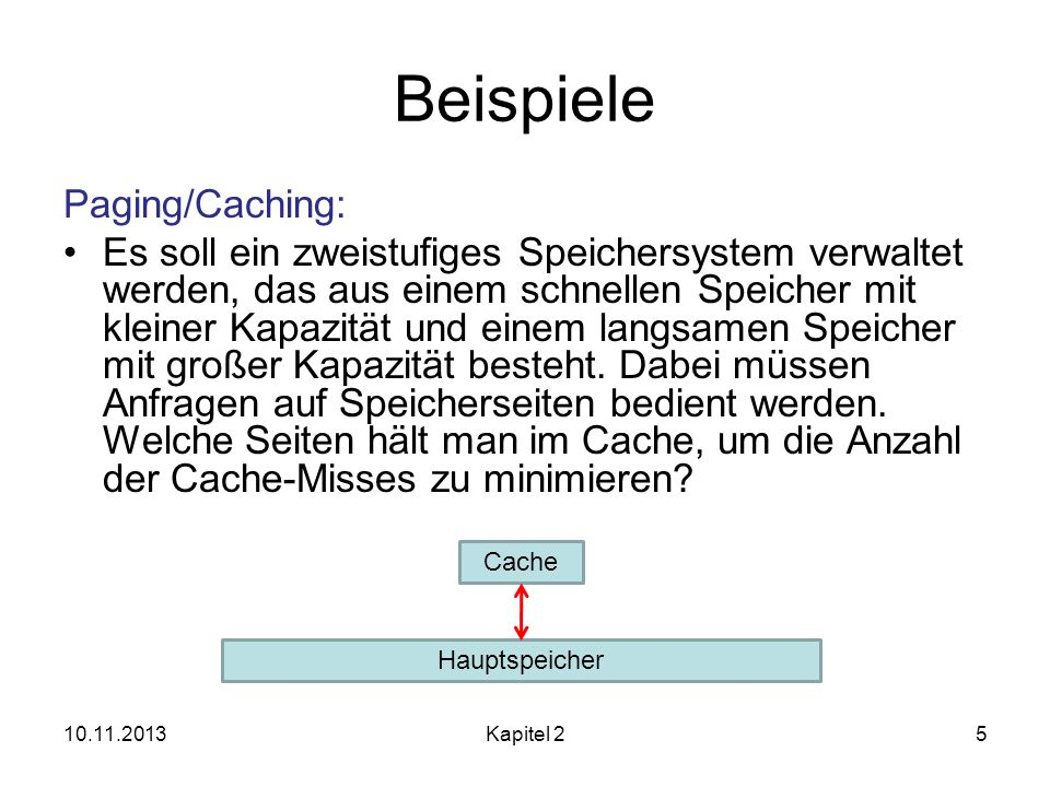 Beispiele Paging/Caching: