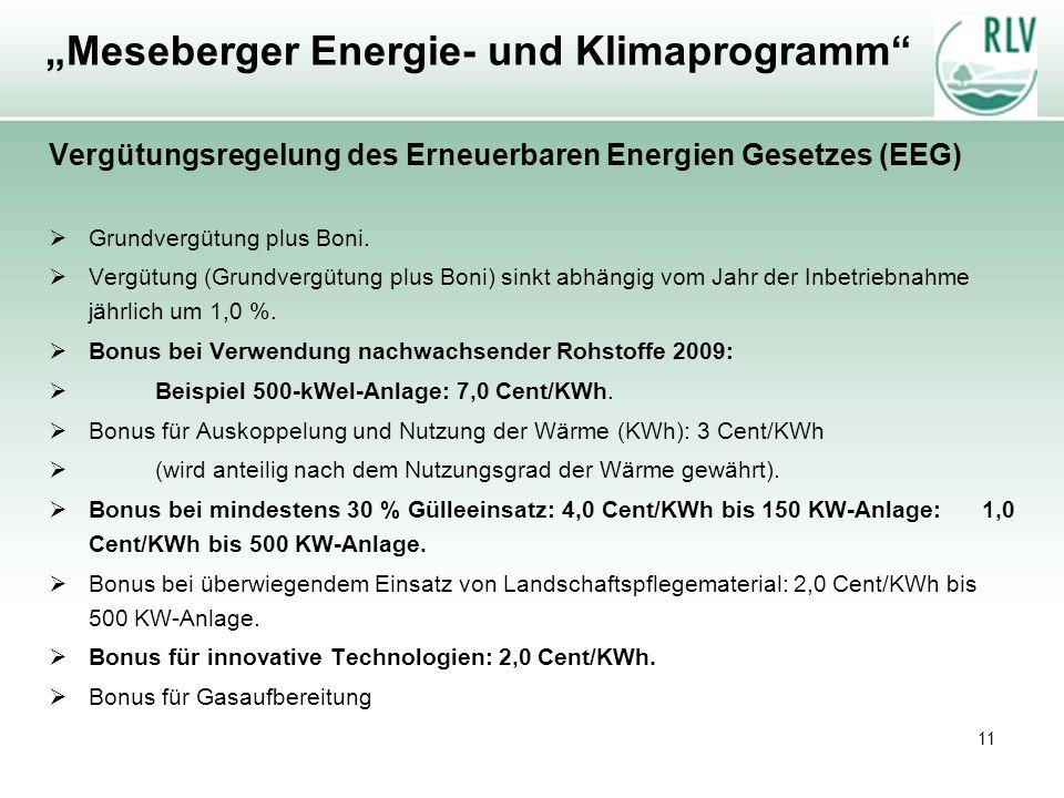 """""""Meseberger Energie- und Klimaprogramm"""
