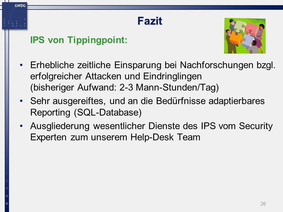 Fazit IPS von Tippingpoint: