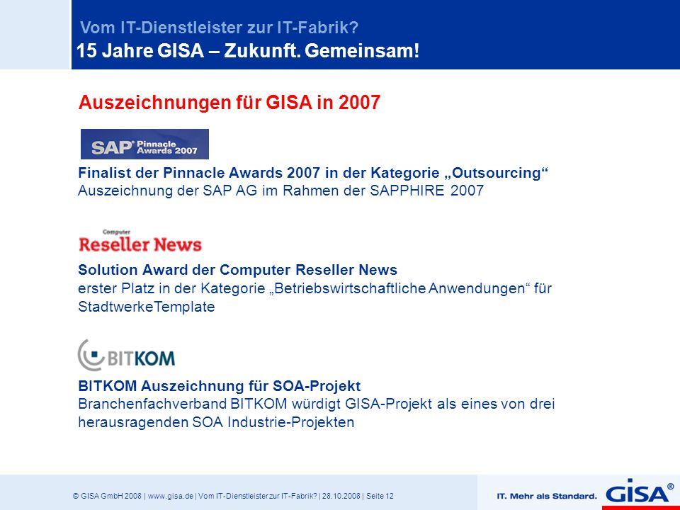 Auszeichnungen für GISA in 2007