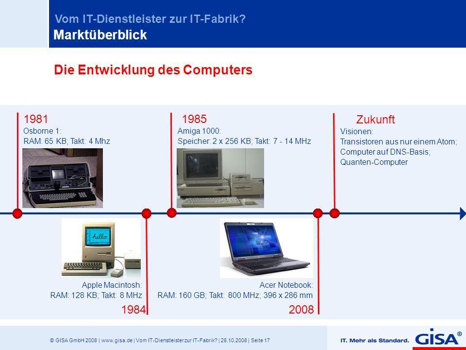 Die Entwicklung des Computers