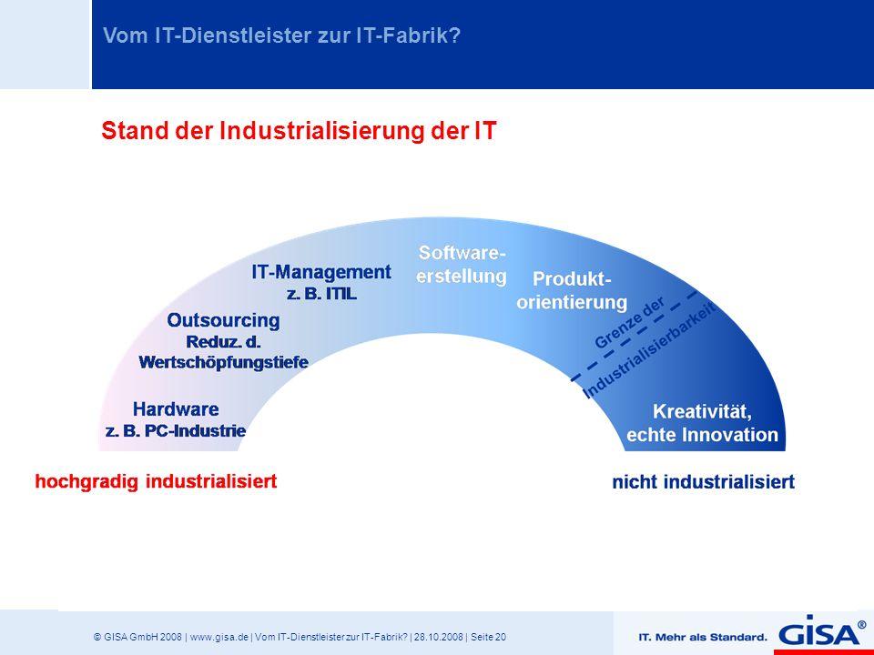 Stand der Industrialisierung der IT