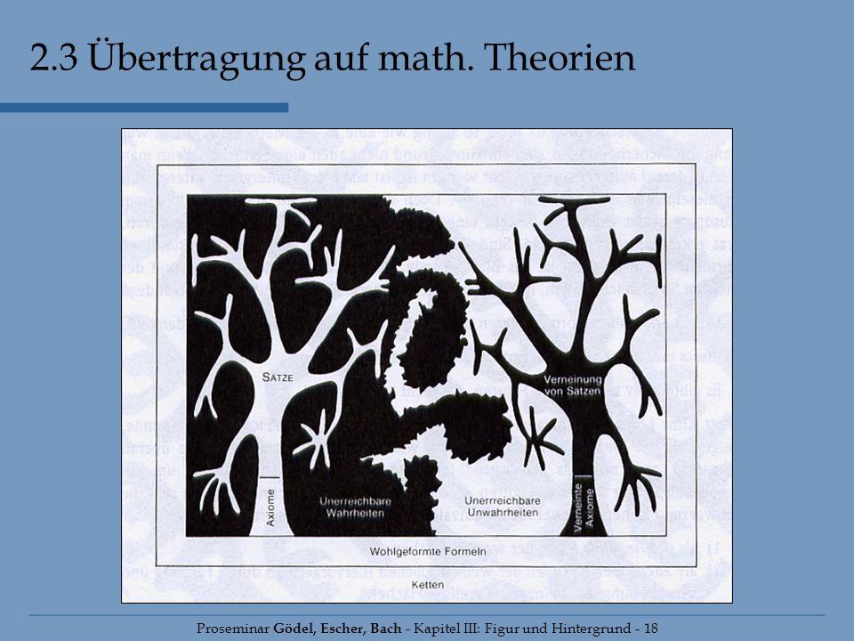 2.3 Übertragung auf math. Theorien