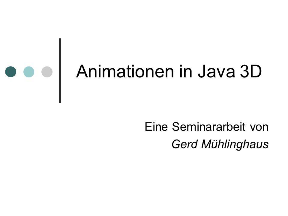 Eine Seminararbeit von Gerd Mühlinghaus