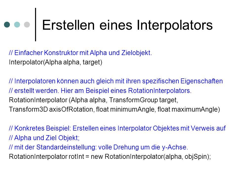 Erstellen eines Interpolators