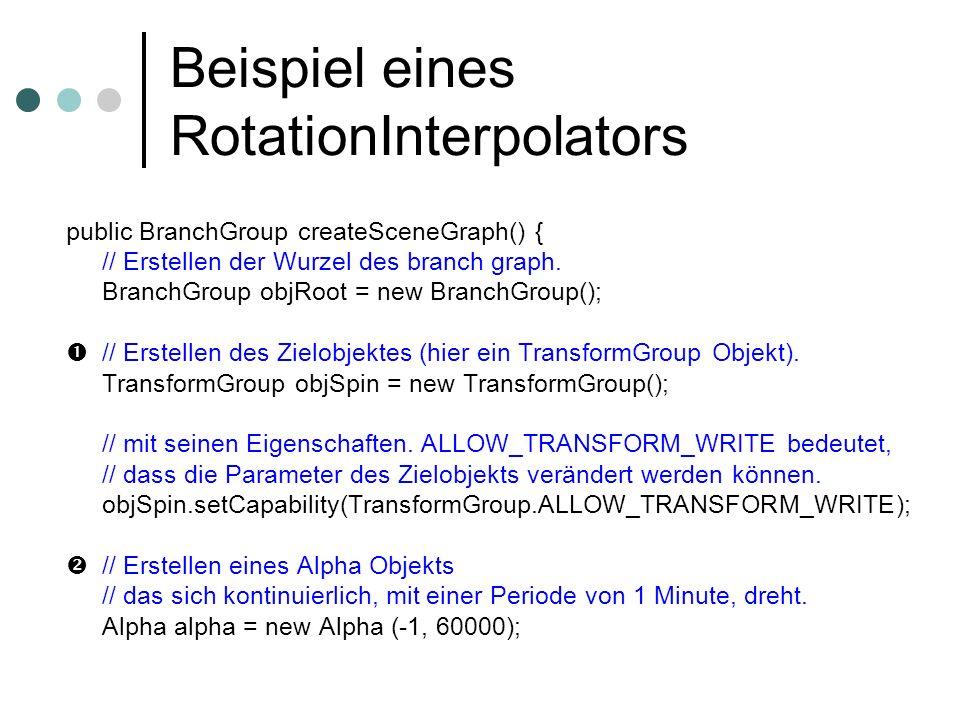 Beispiel eines RotationInterpolators
