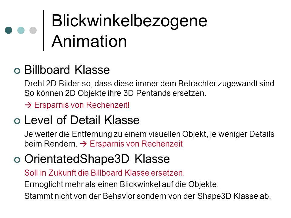 Blickwinkelbezogene Animation
