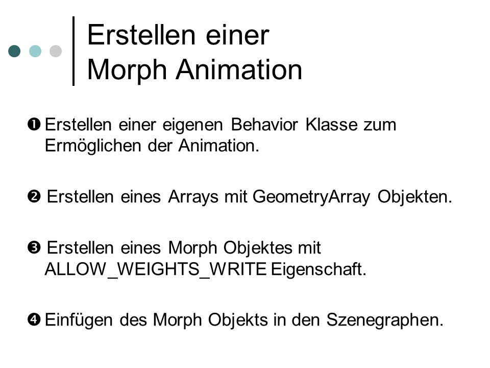 Erstellen einer Morph Animation