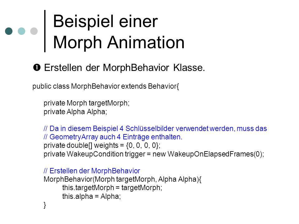 Beispiel einer Morph Animation