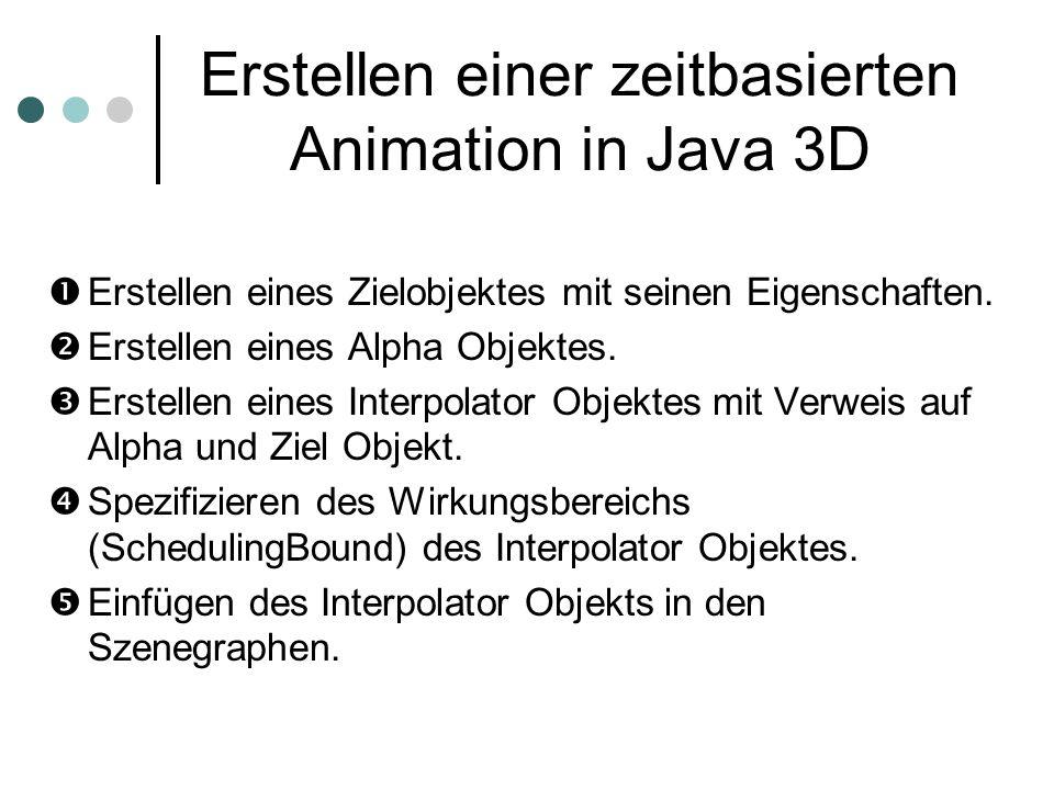 Erstellen einer zeitbasierten Animation in Java 3D