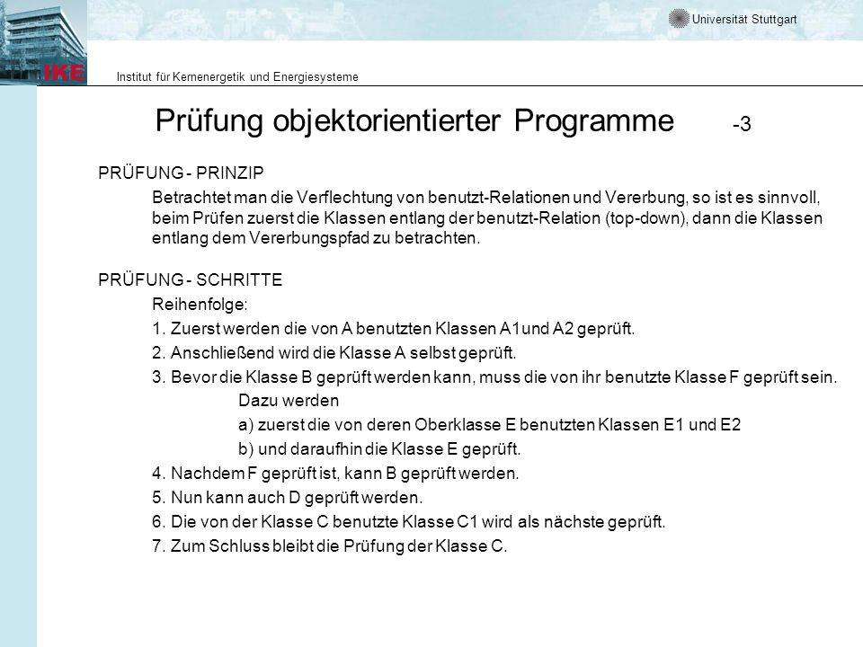 Prüfung objektorientierter Programme -3