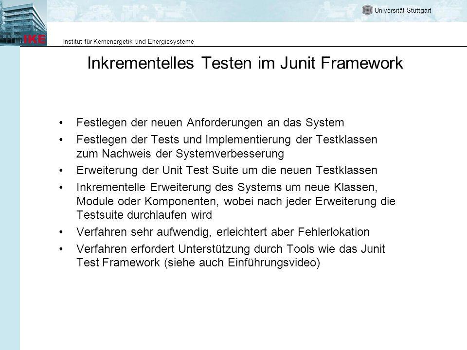 Inkrementelles Testen im Junit Framework