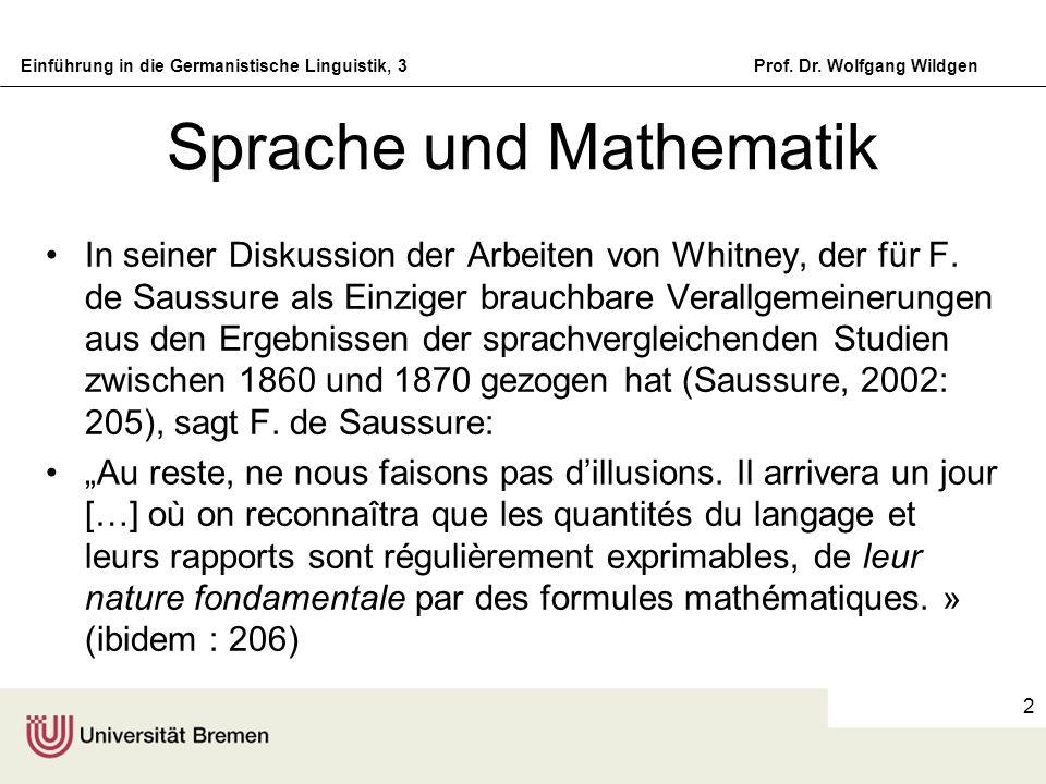 Sprache und Mathematik