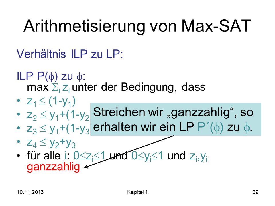 Arithmetisierung von Max-SAT