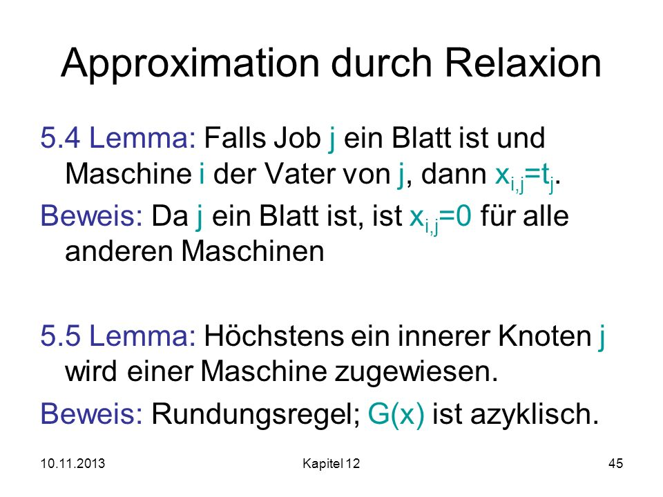 Approximation durch Relaxion