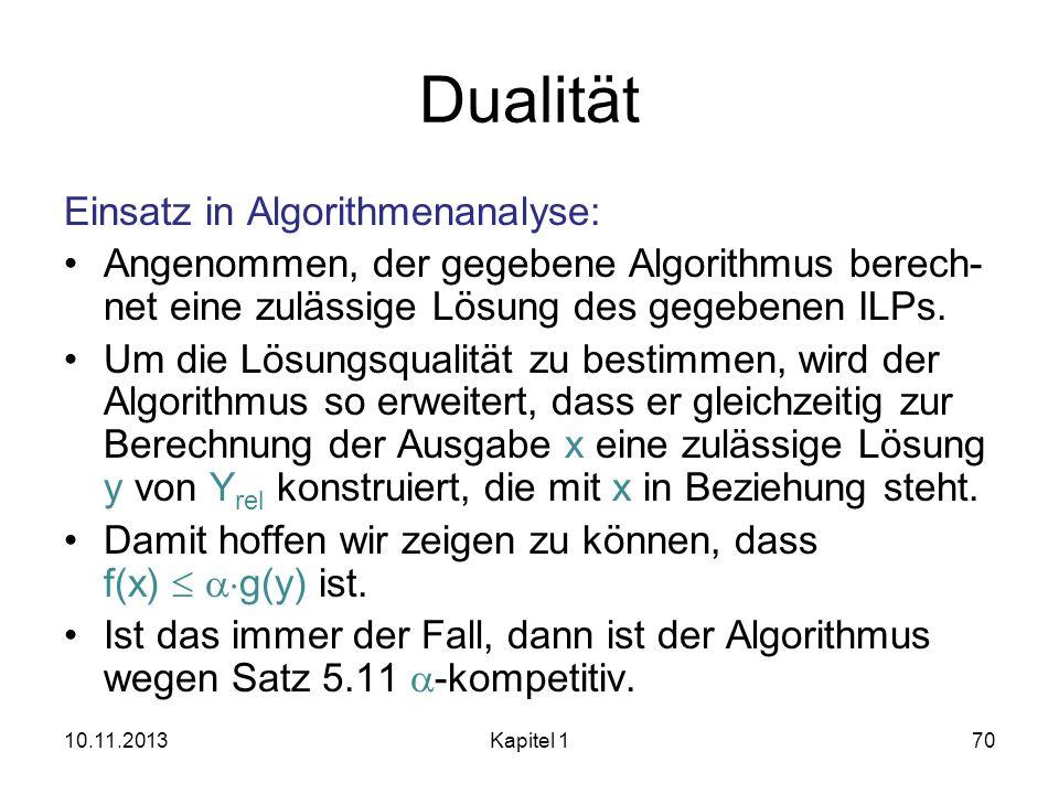 Dualität Einsatz in Algorithmenanalyse: