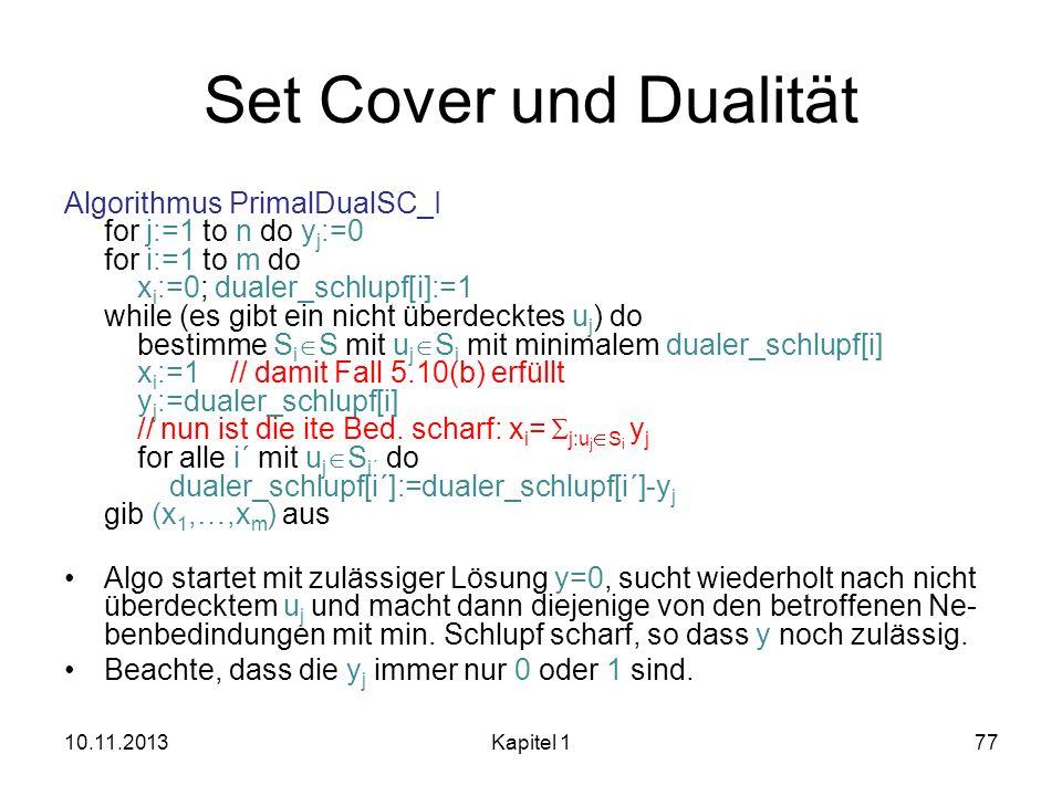 Set Cover und Dualität