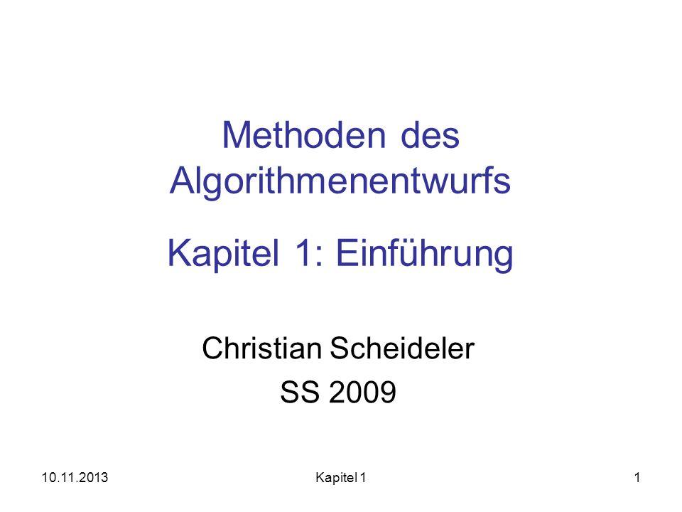 Methoden des Algorithmenentwurfs Kapitel 1: Einführung