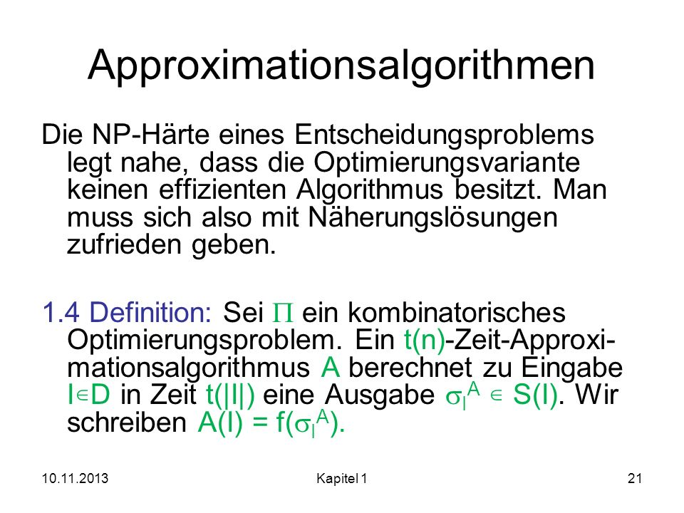 Approximationsalgorithmen