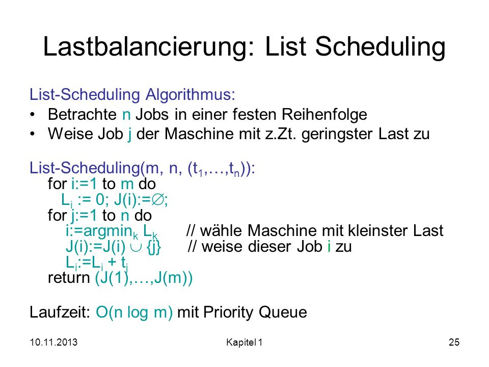 Lastbalancierung: List Scheduling