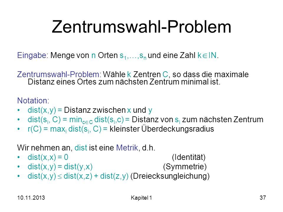 Zentrumswahl-Problem