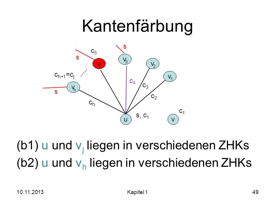 Kantenfärbung s. c5. (b1) u und vj liegen in verschiedenen ZHKs (b2) u und vh liegen in verschiedenen ZHKs