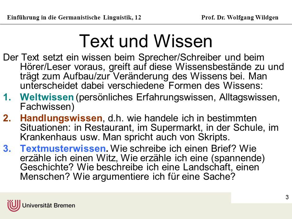 Text und Wissen