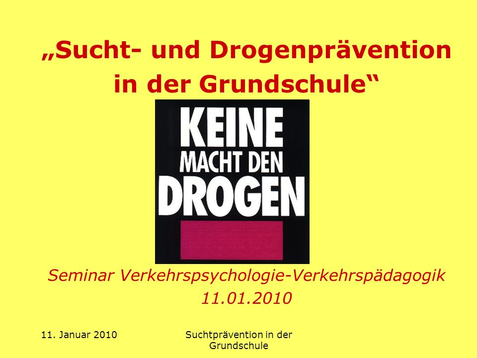 """""""Sucht- und Drogenprävention"""